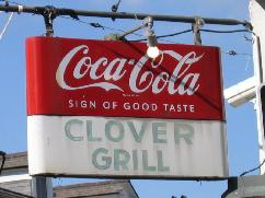 clover's grill on bourbon street, diner, late night, hamburgers, salads, breakfast specials